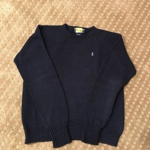 Ralph Lauren Navy Cotton Sweater.